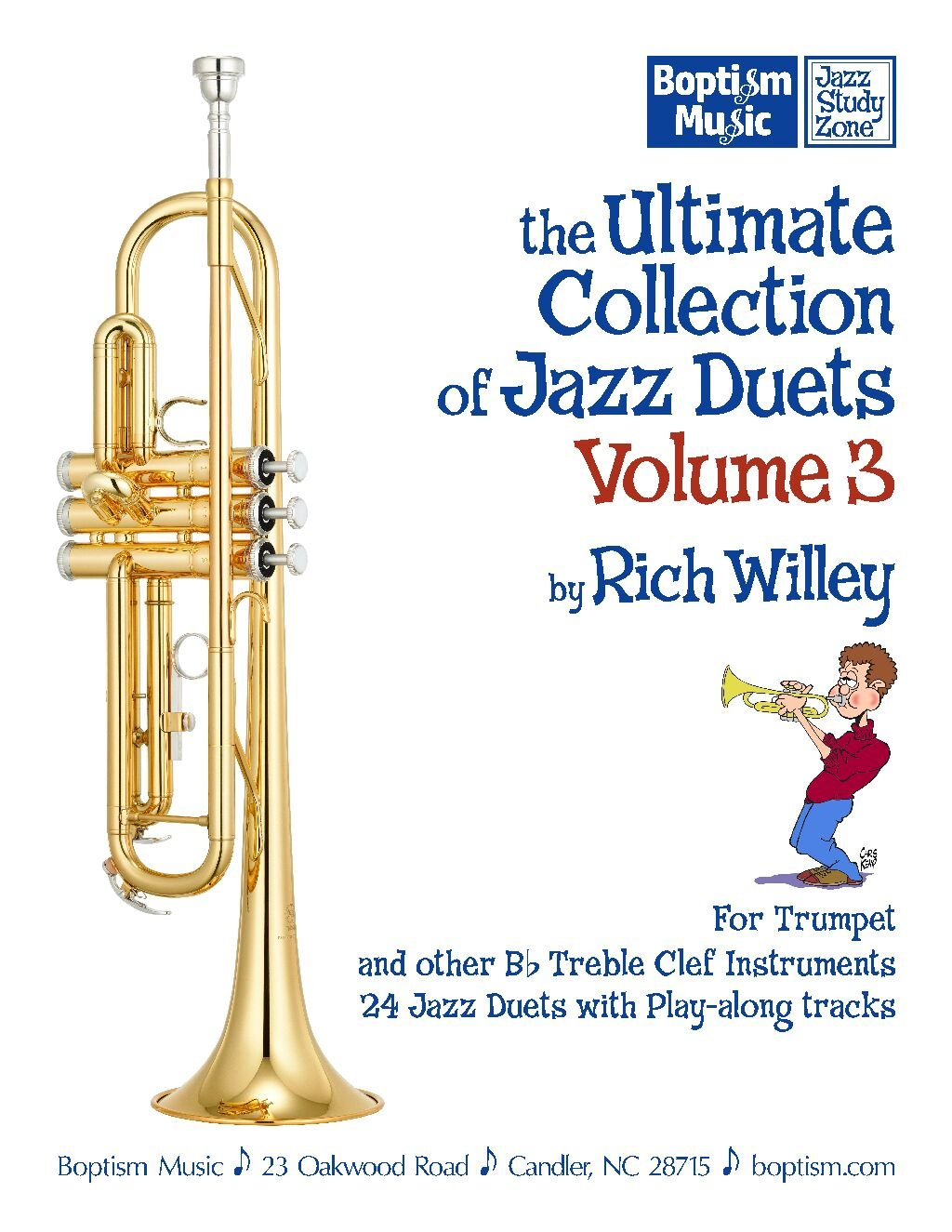 Download 'The Ultimate Collections of Jazz Duets, Volume 3 (for trumpet and other Bb treble clef instruments), by Rich Willey ebook