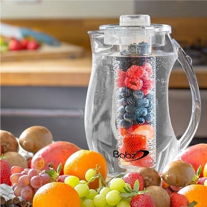 2.7L parte transparente frutas infusi/ón jarra jarra agua con infusor de sabor t/é helado
