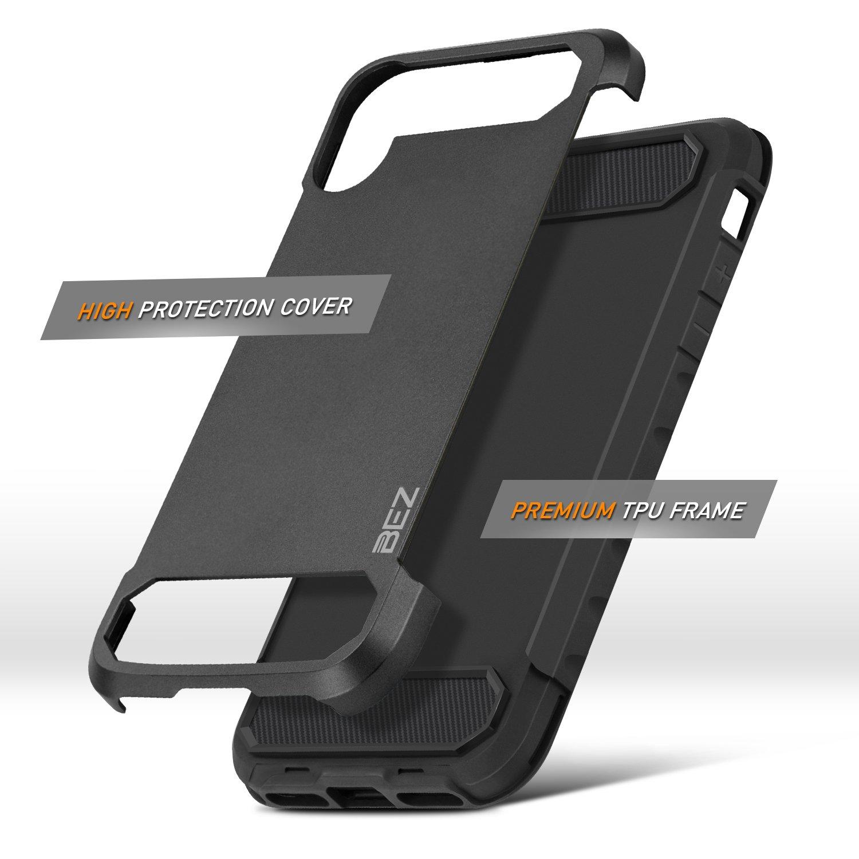 BEZ Funda Samsung Galaxy S9 Plus, Carcasa Compatible para Samsung S9 Plus, Ultra Híbrida Gota Protección, Cover Anti-Arañazos con Absorción de Choque ...