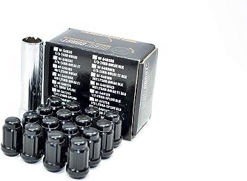 West Coast Accessories DF-54015SPKB Wheel Lug Nut /& Install Kit