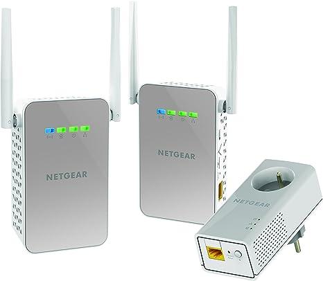Netgear plpw1000t-100frs Pack de 3 cpls WiFi/Tradicional con Toma: Amazon.es: Informática