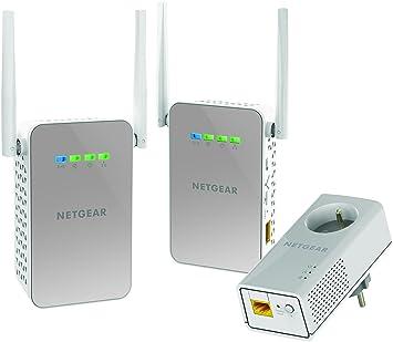 Netgear plpw1000t-100frs Pack de 3 cpls WiFi/Tradicional con Toma