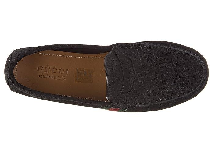 Gucci Mocasines en Ante Hombres Queen Gros Grain Driver Web Negro EU 44 407411 CMAK0 1060: Amazon.es: Zapatos y complementos