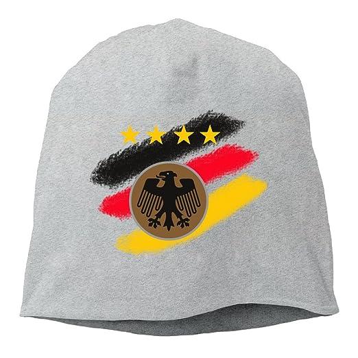 Retro Germany Falg Unisex Knit Hat Soft Stretch Beanies Skull Cap Hedging  Cap Ash 17c851959051