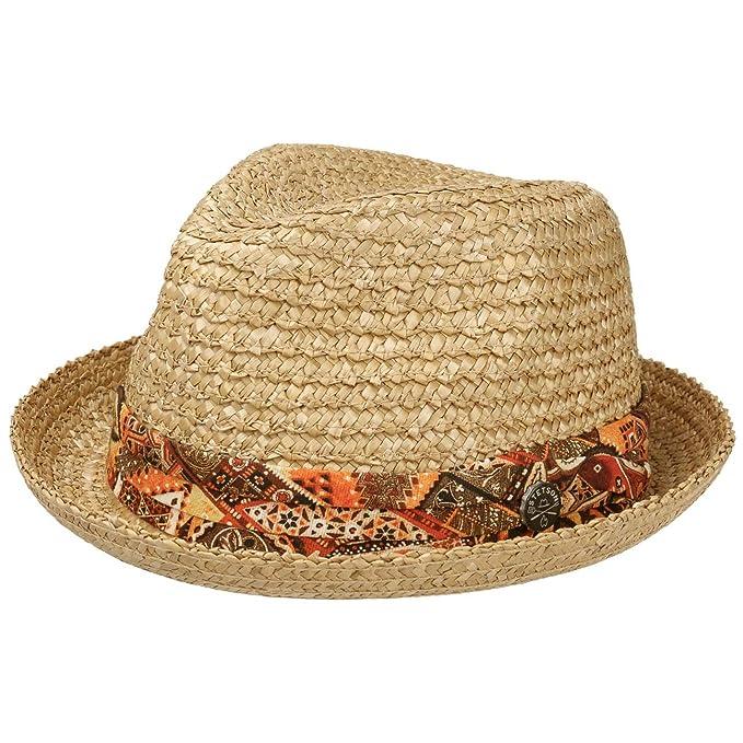 Stetson Sombrero de Paja Martinez Player Hombre Sol Verano Playa con Banda Grosgrain Primavera//Verano
