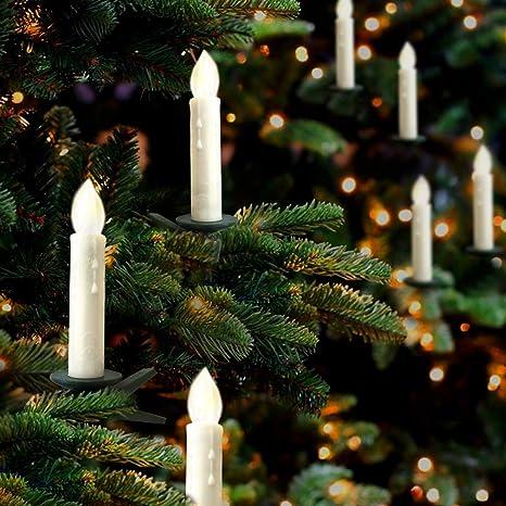 Hoolees' Classic 24Pcs LED Christmas Tree Candle Lights, Wireless,  Flameless, Flickering, - Amazon.com: Hoolees' Classic 24Pcs LED Christmas Tree Candle Lights