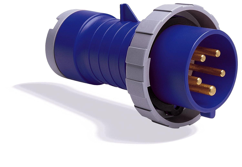 MK Commando K9024 Plug 16 Amp 2P+E 200-250 Volt (IP67) Blue K9024 BLU