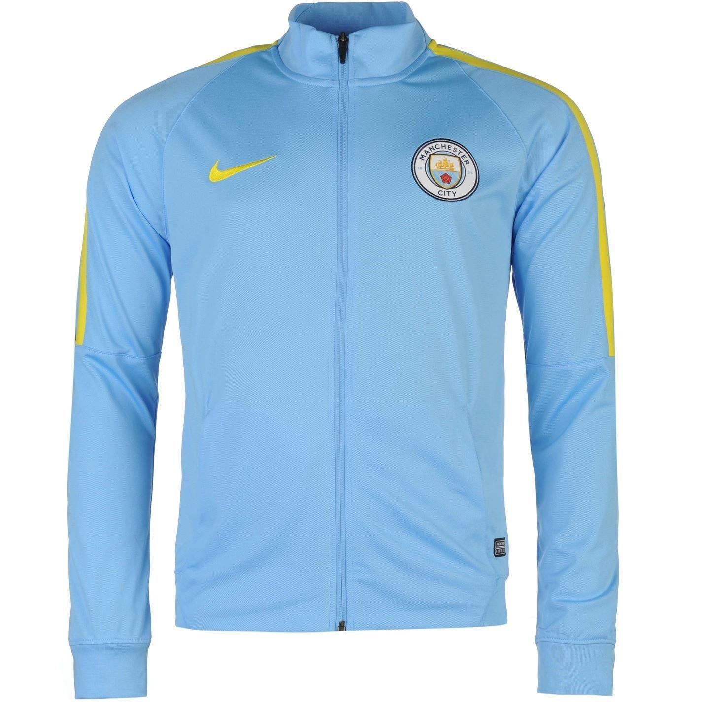 Nike Manchester City FC para hombre Chaqueta de chándal azul ...