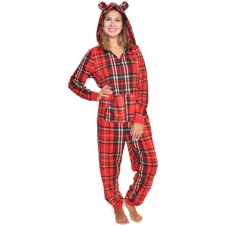 c94341f941 Angelina Women s   Kid s Fleece Novelty One-Piece Hooded Pajamas at Amazon Women s  Clothing store