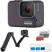 【GoPro公式限定】GoPro HERO7 Silver + 3-Way + SDカード + 公式限定ステッカー バンドル 【国内正規品】
