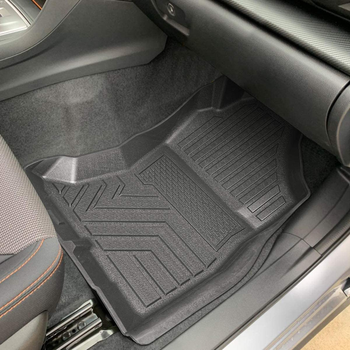 Pack of 3 Auovo Floor Mats Fits for Subaru Crosstrek 2018 2019 2020 /& Impreza 2017-2020 Accessories Complete Set All Weather Guard Protector Liners for Subaru XV