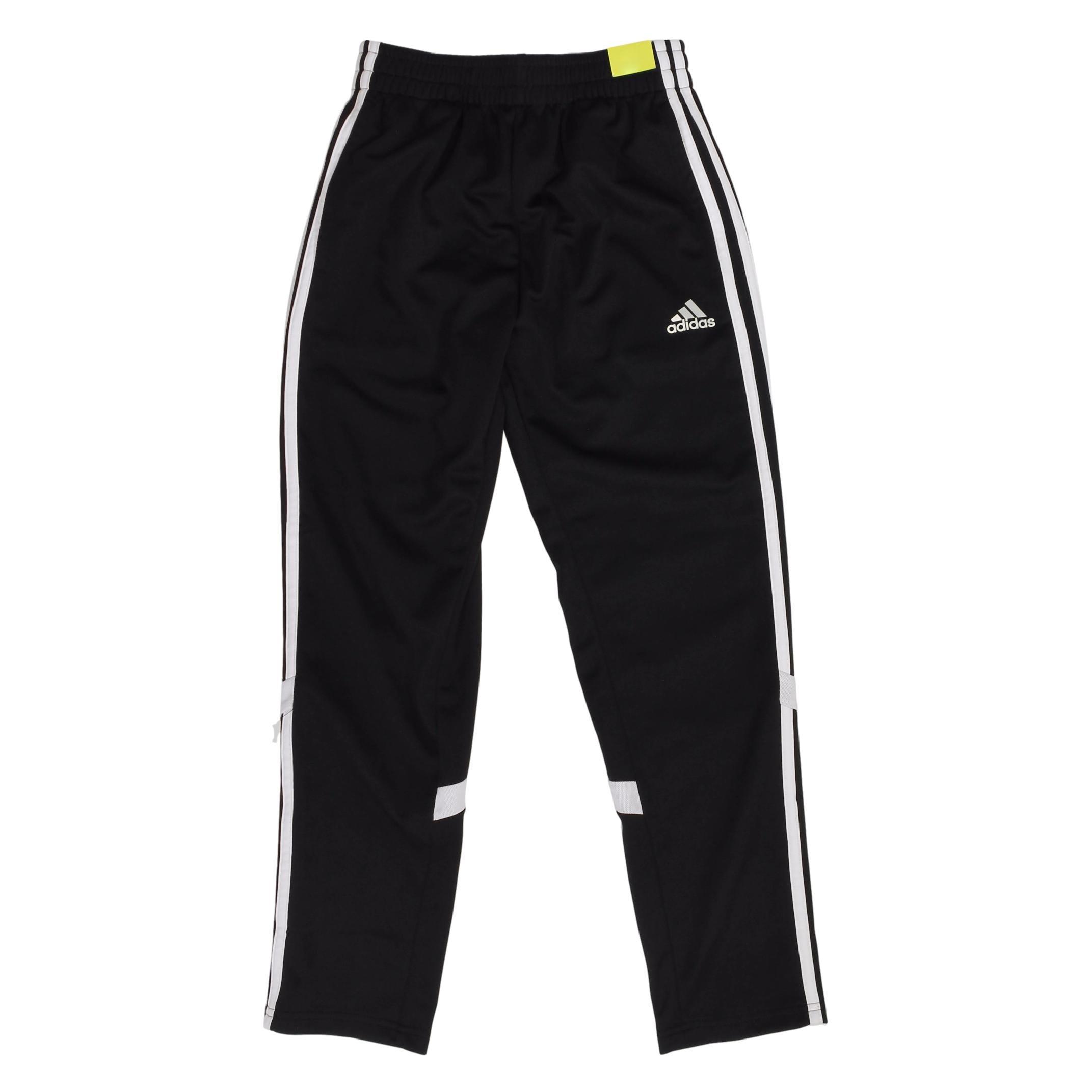 adidas Track Training Pants for Boys (Large / 14-16, Black/White)