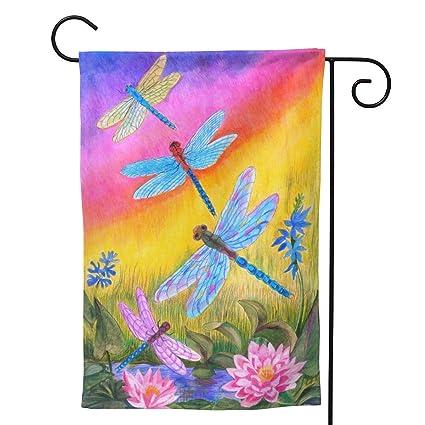 Amazon Com Minioze Rainbow Dragonfly Summer Lotus Themed Welcome