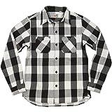 (ヒューストン) HOUSTON マチ付 長袖 バッファローチェック ヘビーネルシャツ