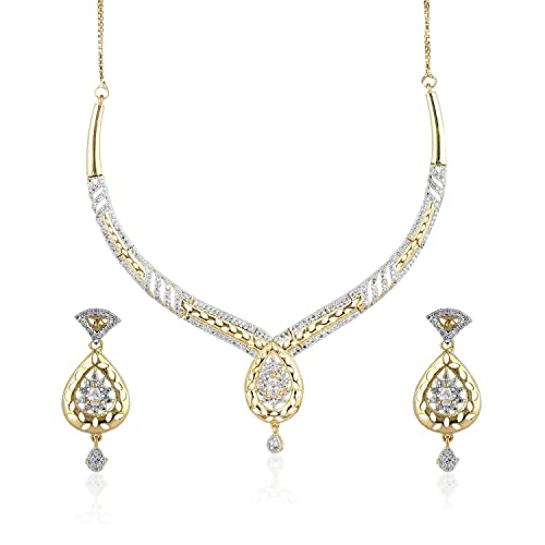 1b8ee35fc Amazon.com: Fasherati 7-12 Days American Diamond CZ Gold Plated ...