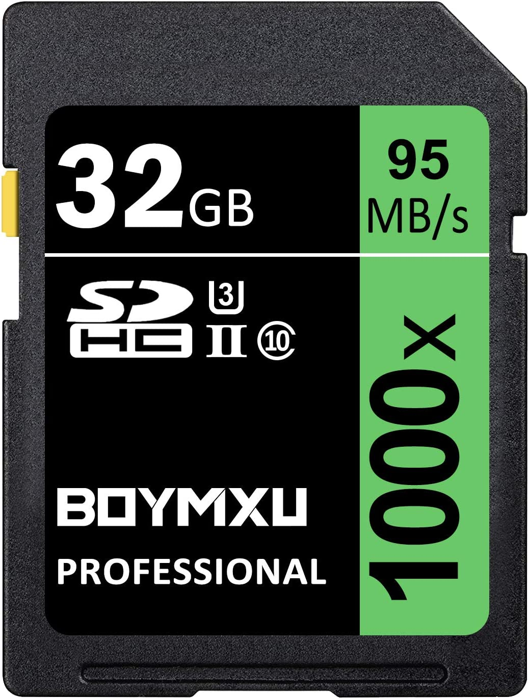 32GB SD Card, BOYMXU Professional 1000 x Class 10 SDHC UHS-I U3 Memory Card Compatible Computer Cameras and Camcorders, SD Memory Card Up to 95MB/s, ...