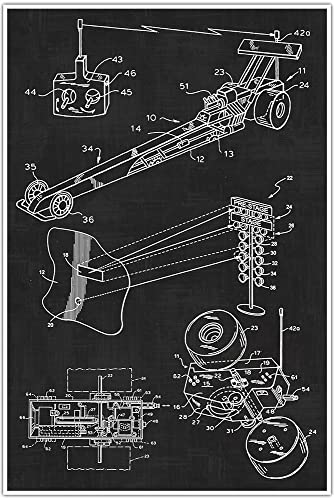 Amazon dragster drag racing car sports man cave blueprint dragster drag racing car sports man cave blueprint patent patent poster malvernweather Choice Image