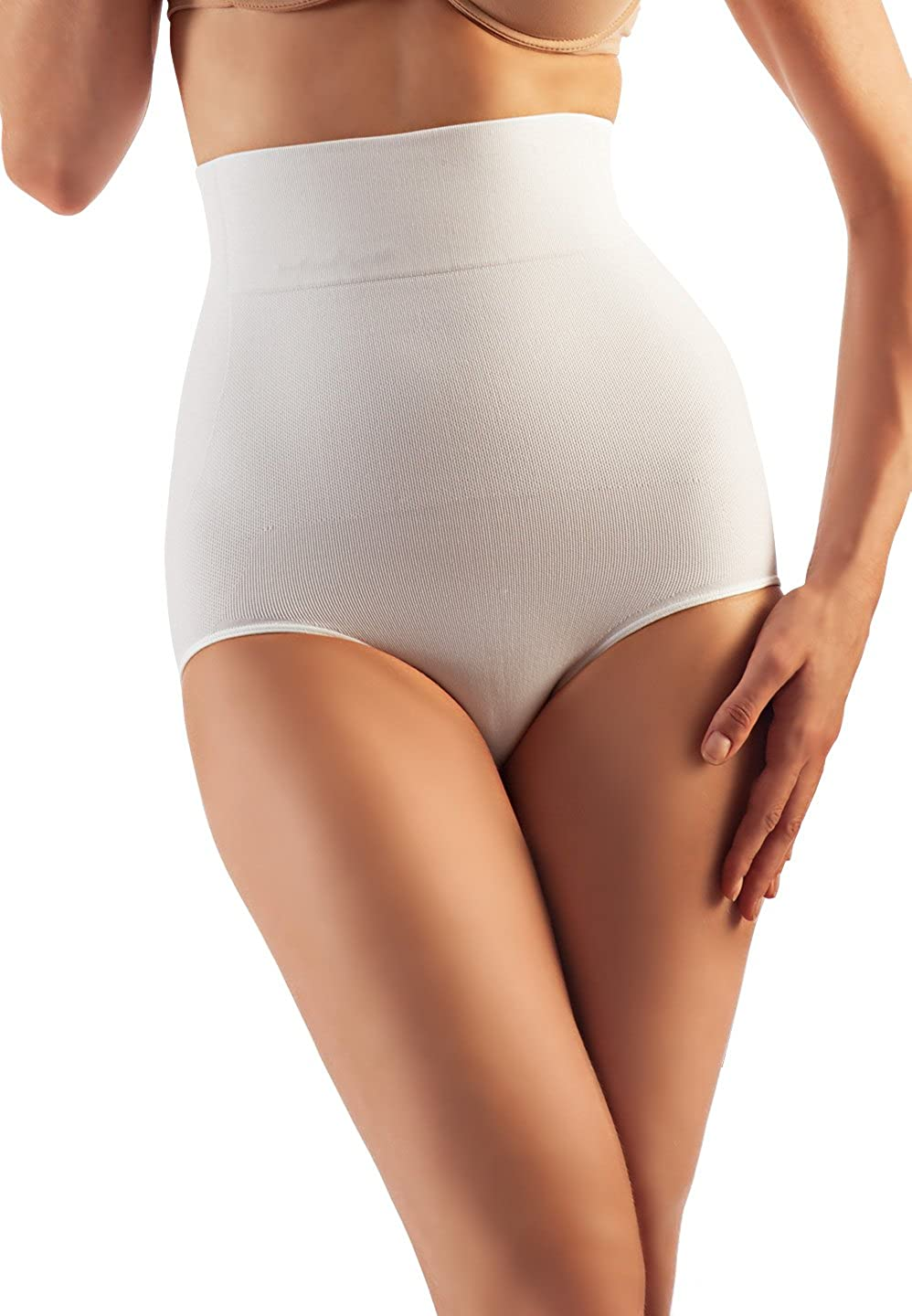 Farmacell Shape Cotton 611 High-Waisted Shaping Control Briefs Belly Control Effect Calze G.T. S.r.l.