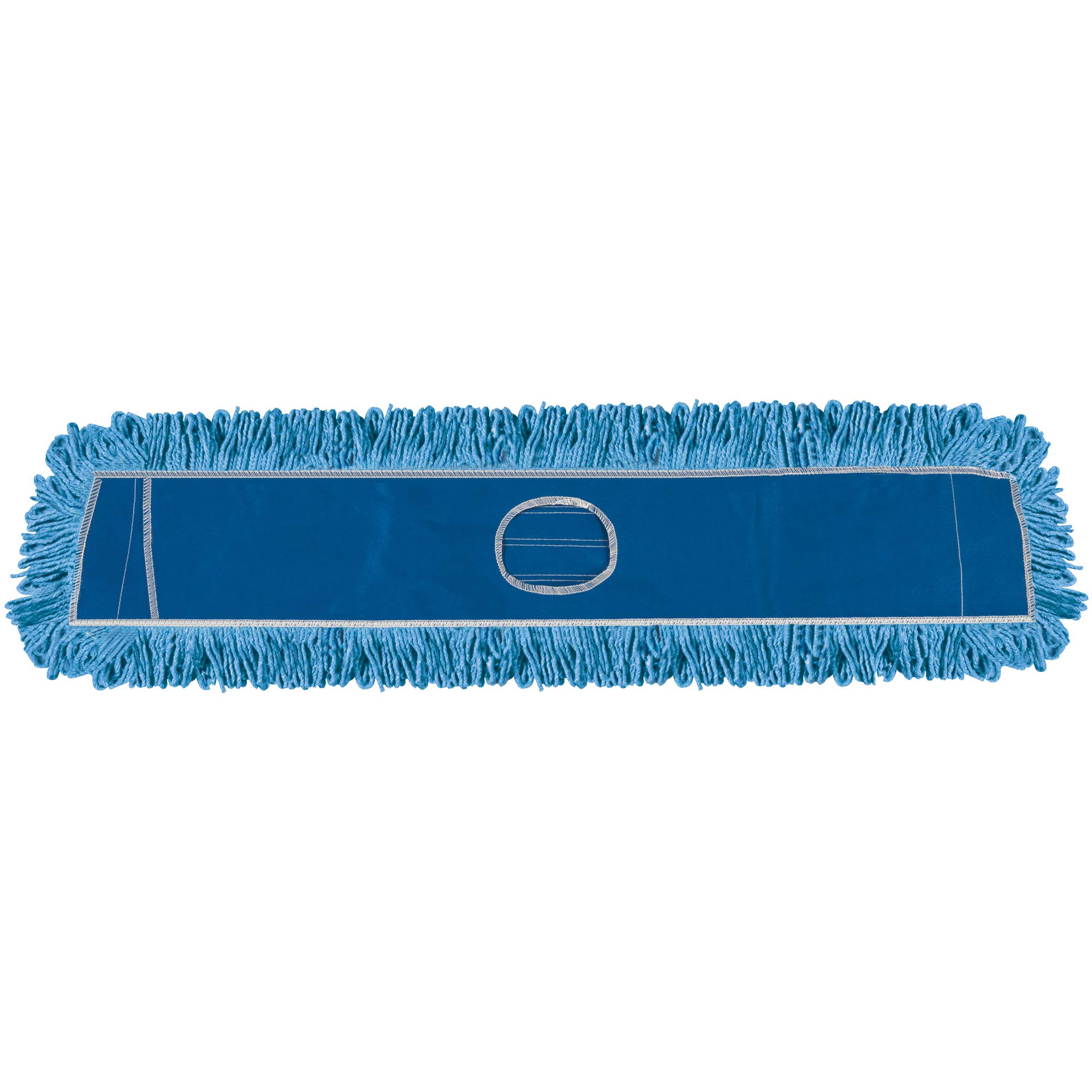 Deluxe Looped-End Dust Mop Head, 36'', Blue, 1/Each by Choice Shipping Supplies