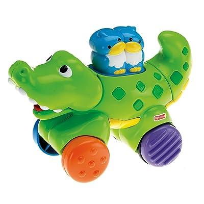 Fisher-Price Amazing Animals Press & Go Crocodile: Toys & Games