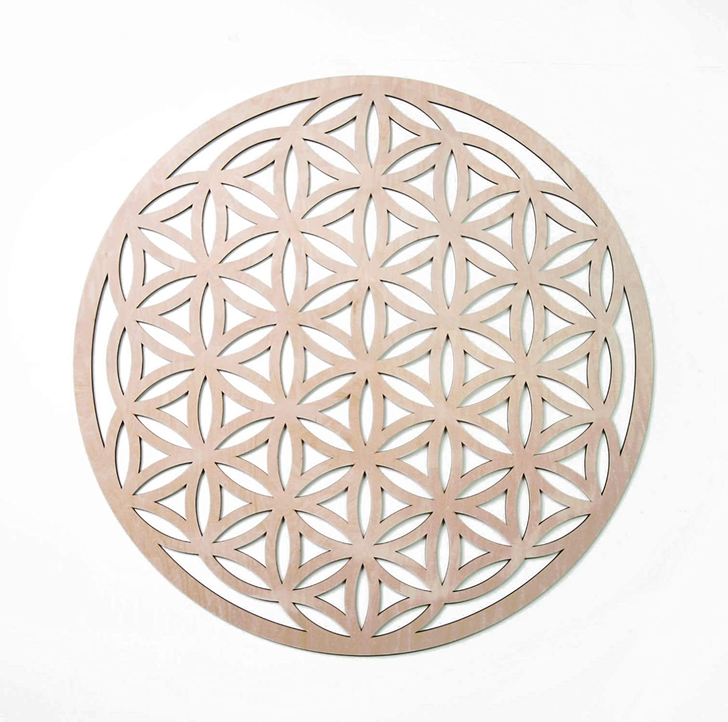 "33"" Flower of Life, Seed of Life, Home Decor, Wooden Wall Art, Sacred Geometry Art, Sculpture, Wall Decorations, Chakra Banner, Crystal Grid"
