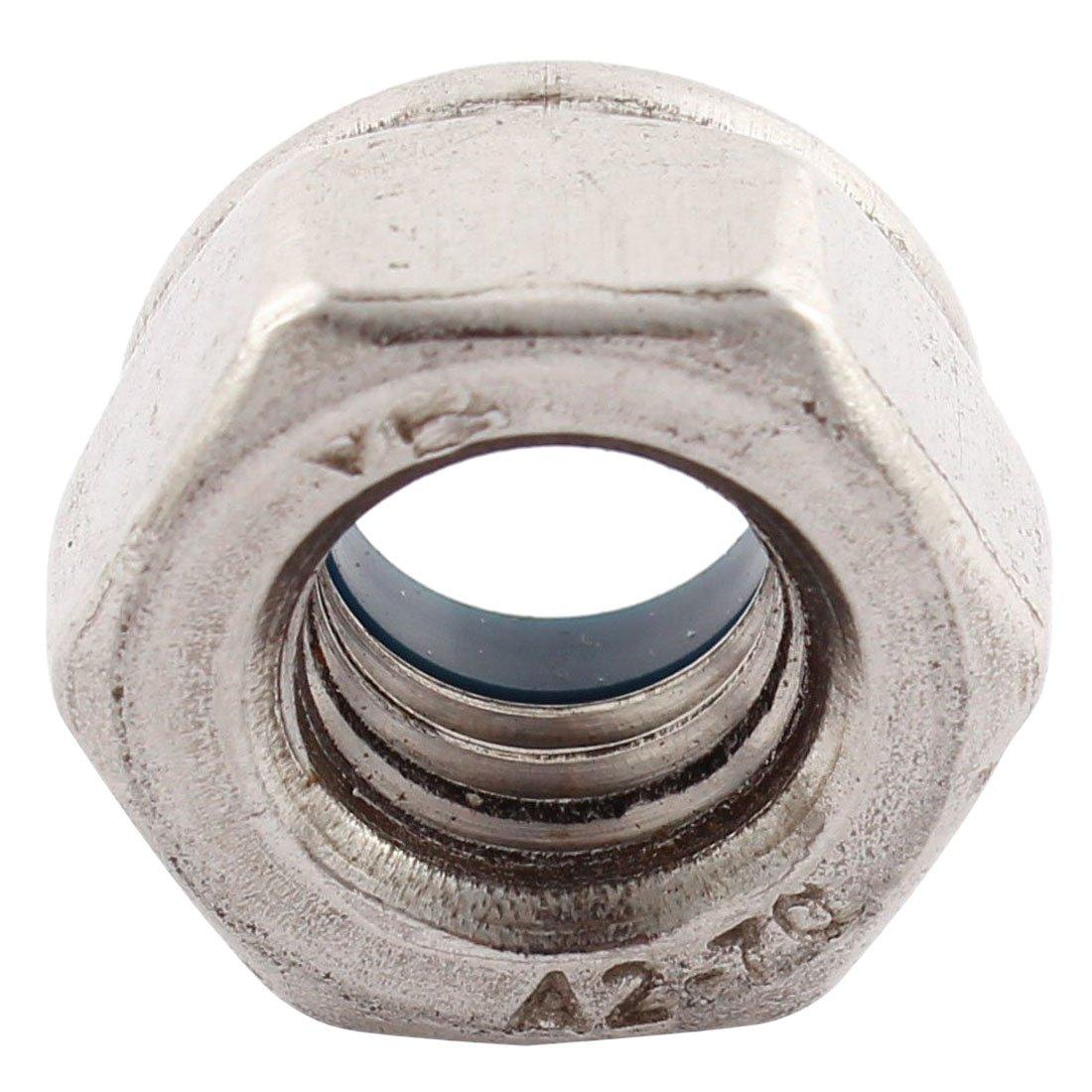 REFURBISHHOUSE Dadi a esagono bloccati d/'acciaio 304 con nylon inserto di 5 pezzi M10x1.5mm
