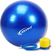 Joyfit Yoga Ball 65 cm- with Hand Pump, Exercise Ball for Balance, Core Strength Fitness and Stability, for Home and Gym, Anti-Burst Built-up