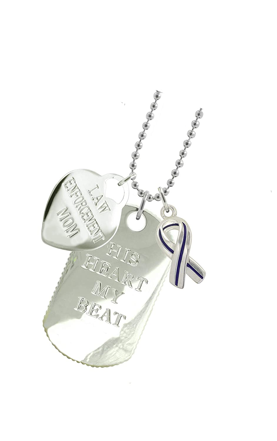 New York 925 & Co. Plated Police Mom Dog Tag BR