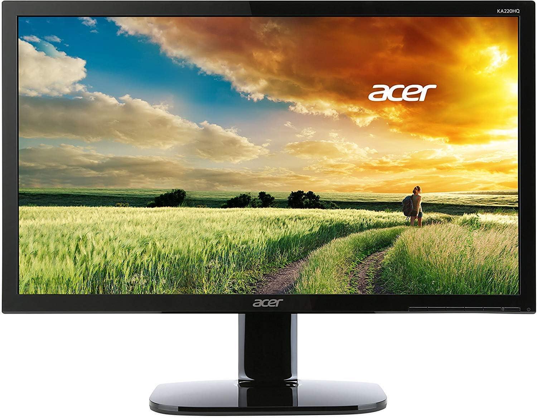 Acer - 612786 Monitor de 21.5 pulgadas (pantalla LED, 1920 x 1080 píxeles, VGA, HDMI, Full HD), color negro