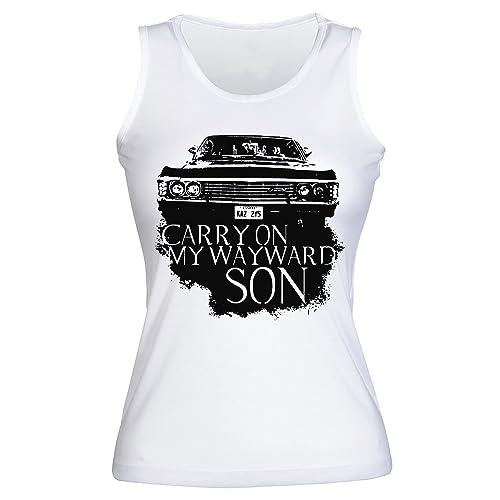 Carry On My Wayward Son Camisetas sin mangas para mujer Shirt