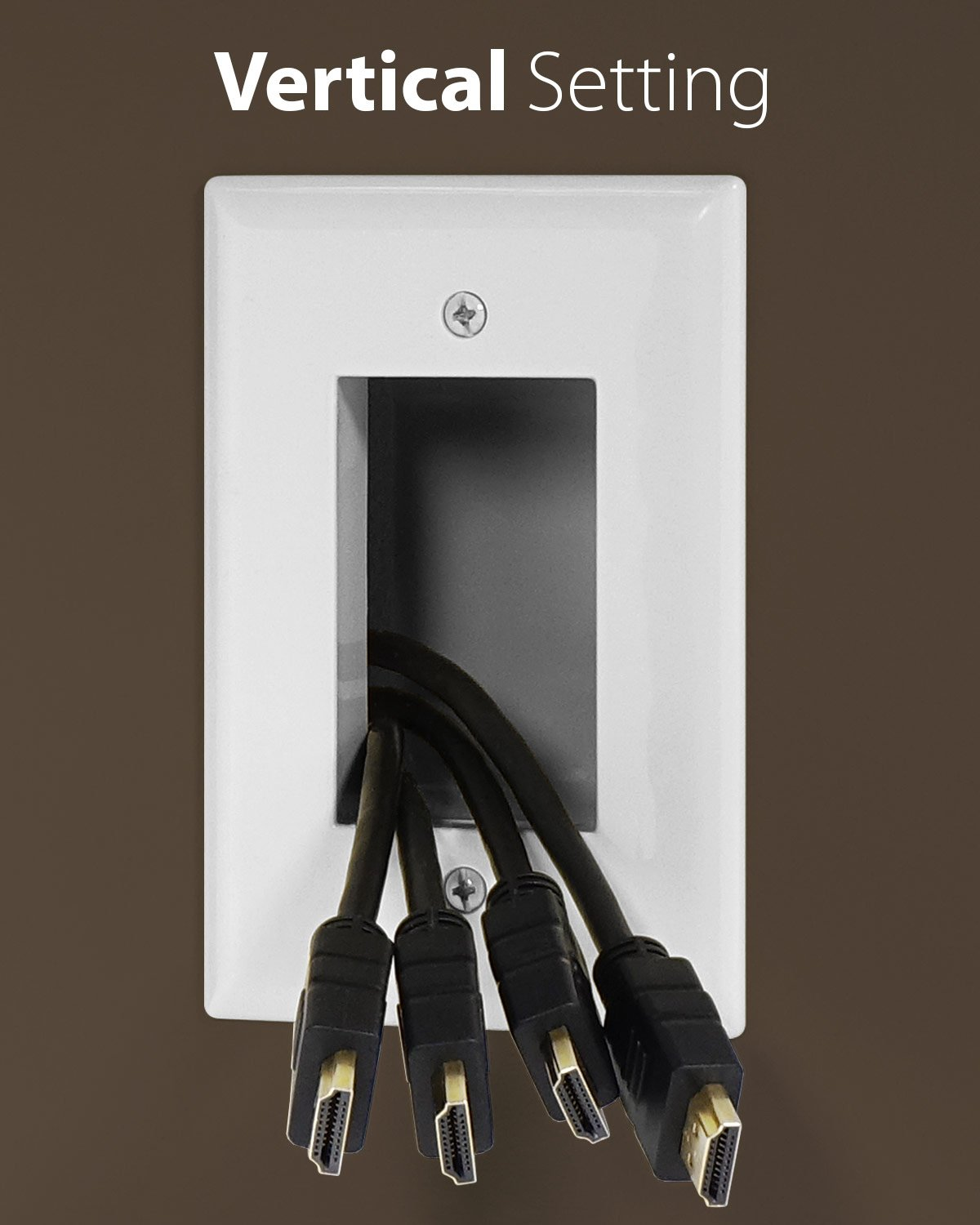 Fosmon 1 Gang Recessed Low Voltage Cable Plate In Wall House Wiring Electronics