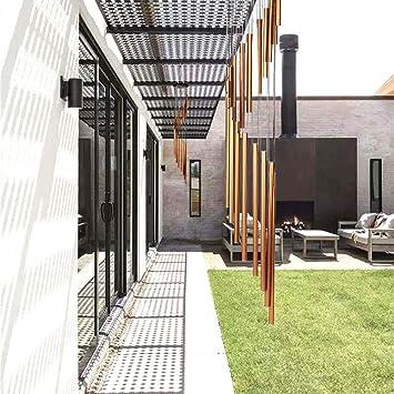 HUDDU Carillones Jardín Campanas Viento Decoración - Interiores Exteriores con 18 Tubos de Aleación de Aluminio Bronce del Metal y 1 Gancho para Fuera de Casa Regalo de Balcón del Patio Trasero: