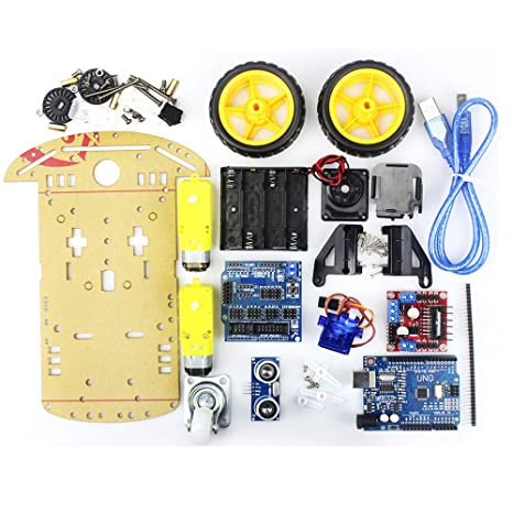 Integrated Circuits 2019 New Style Avoidance Tracking Motor Smart Robot Car Chassis Kit Speed Encoder Battery Box 2wd Ultrasonic Module For Arduino Kit 2019 New Fashion Style Online
