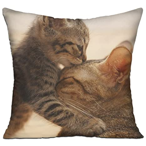 Amazon.com: SGGWU I Love You Mon – Almohada de algodón 100 ...
