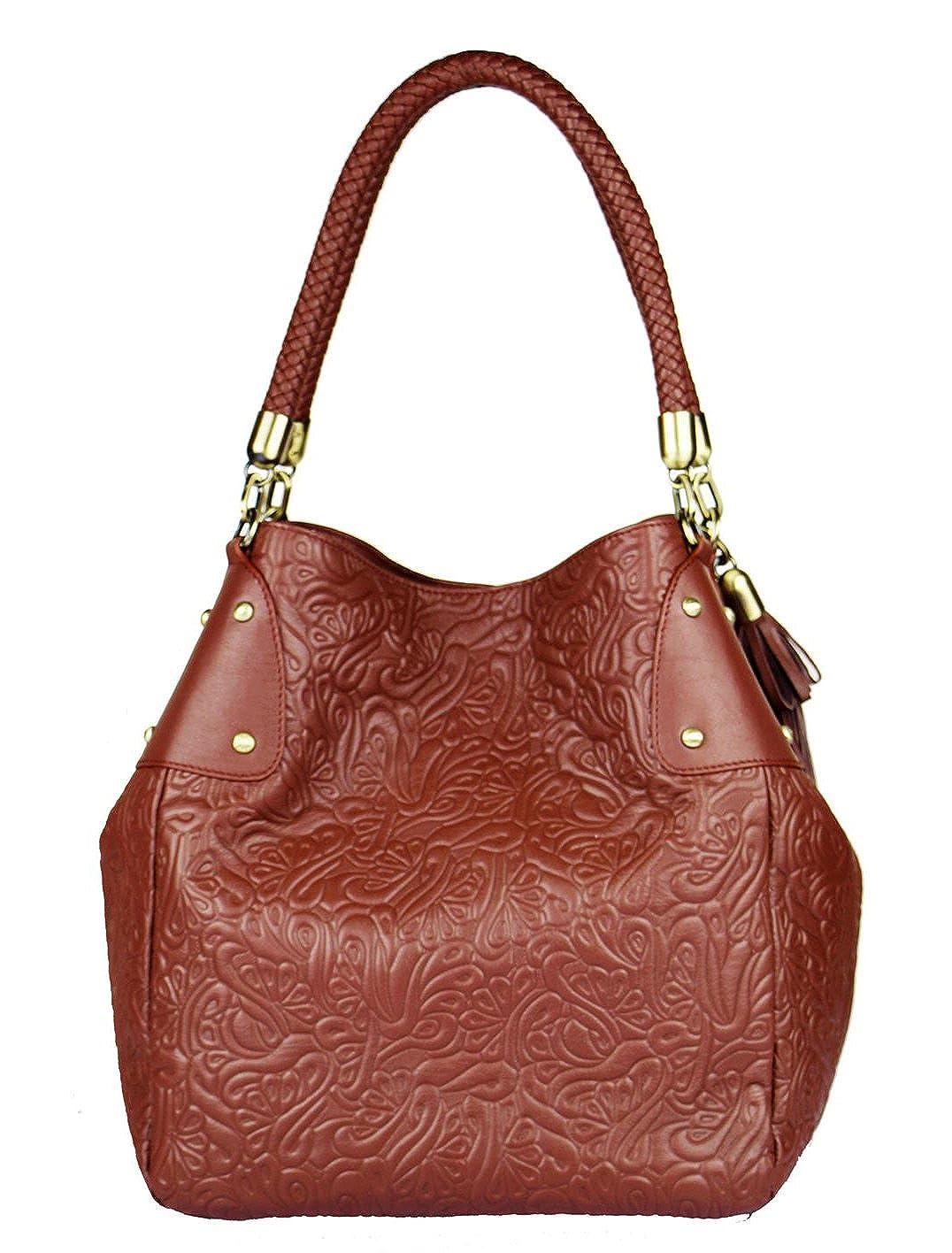 7d89cb760dc7 SILVIO TOSSI - Swiss Label Henkeltasche braun  Amazon.de  Schuhe    Handtaschen