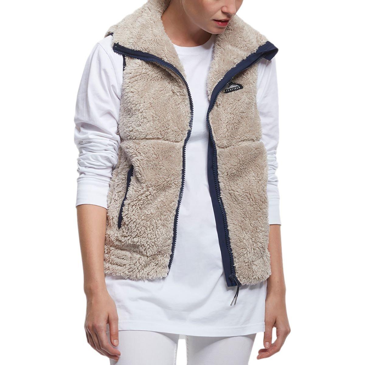 Penfield Eagle Fleece Vest - Women's Tan, XL