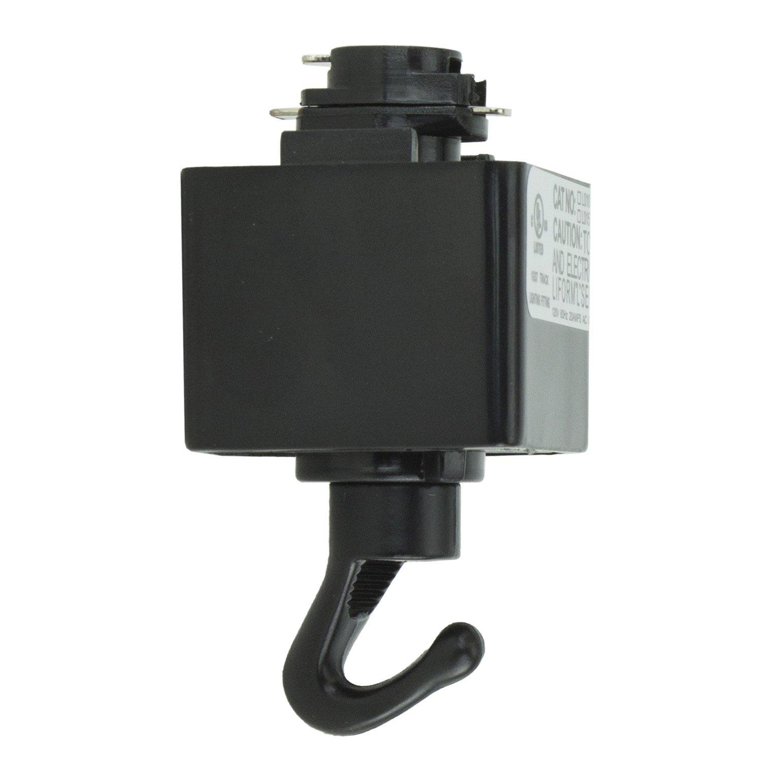 Direct-Lighting H System Track Adapter with Hook H870-BK (Black)