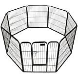 "Giantex 24"" 32"" 40"" 8 Panel Heavy Duty Pet Playpen Dog Exercise Pen Cat Fence"