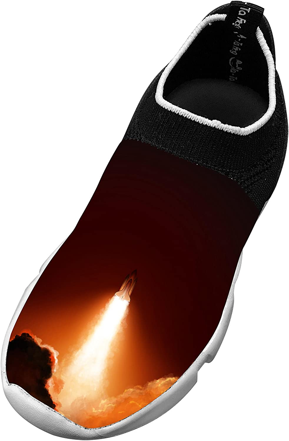 Childrens Diy Rocket launch Design Fly Knit Sneaker Shoes