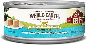 Whole Earth Farms Grain Free Receipe, 5 oz, Tuna & Whitefiesh, 24 Count