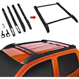 Modifying Roof Rack Cross Bars, Compatible with Toyota Tacoma Double Cab 2005-2018 - Black