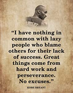 Motivational Basketball Quotes Wall Art for Home & Office- Inspirational Quotes Wall Art Decor in Vintage Wall Style - Art Gift for Sports Persons, Basketball Lovers, 11x14 inch