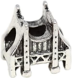 Amazon Com Golden Gate Bridge Charm Silver Plated Charm