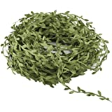 Artificial Vines,Hogado 132 Ft Fake Hanging Plants Silk Ivy Garlands Simulation Foliage Rattan Green Leaves Ribbon Wreath Accessory Wedding Wall Crafts Party Decor, Fabric, Green, 10