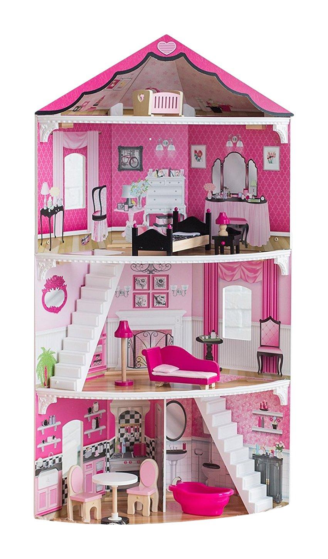 Kidkraft Eck-Puppenhaus Platzsparendes Barbie Puppenhaus