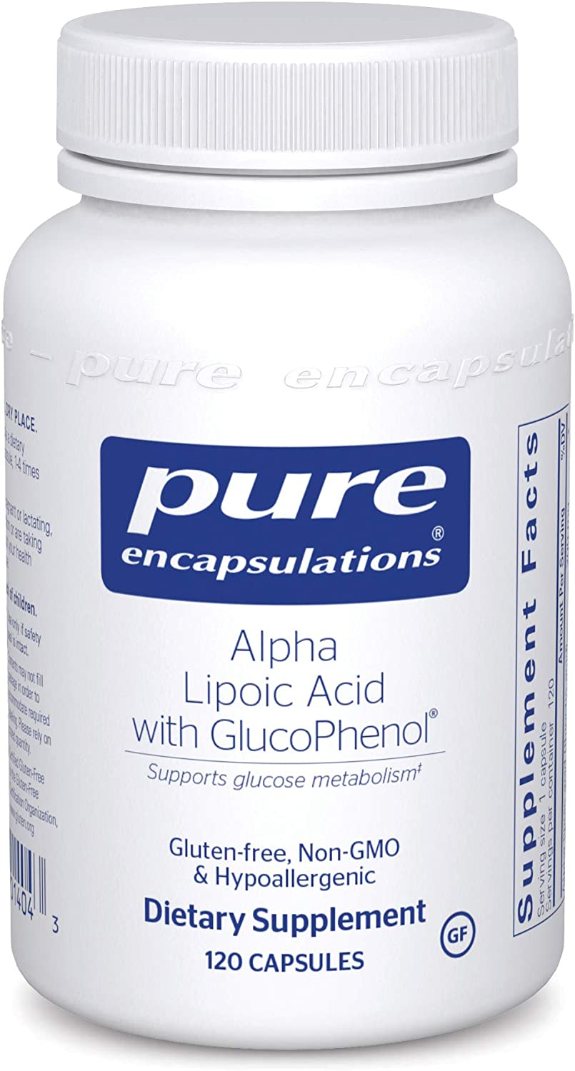 Pure Encapsulations Alpha Lipoic Acid with GlucoPhenol | ALA Supplement for Liver Support, Antioxidants, Nerve and Cardiovascular Health, Free Radicals, and Glucose Support* | 120 Capsules