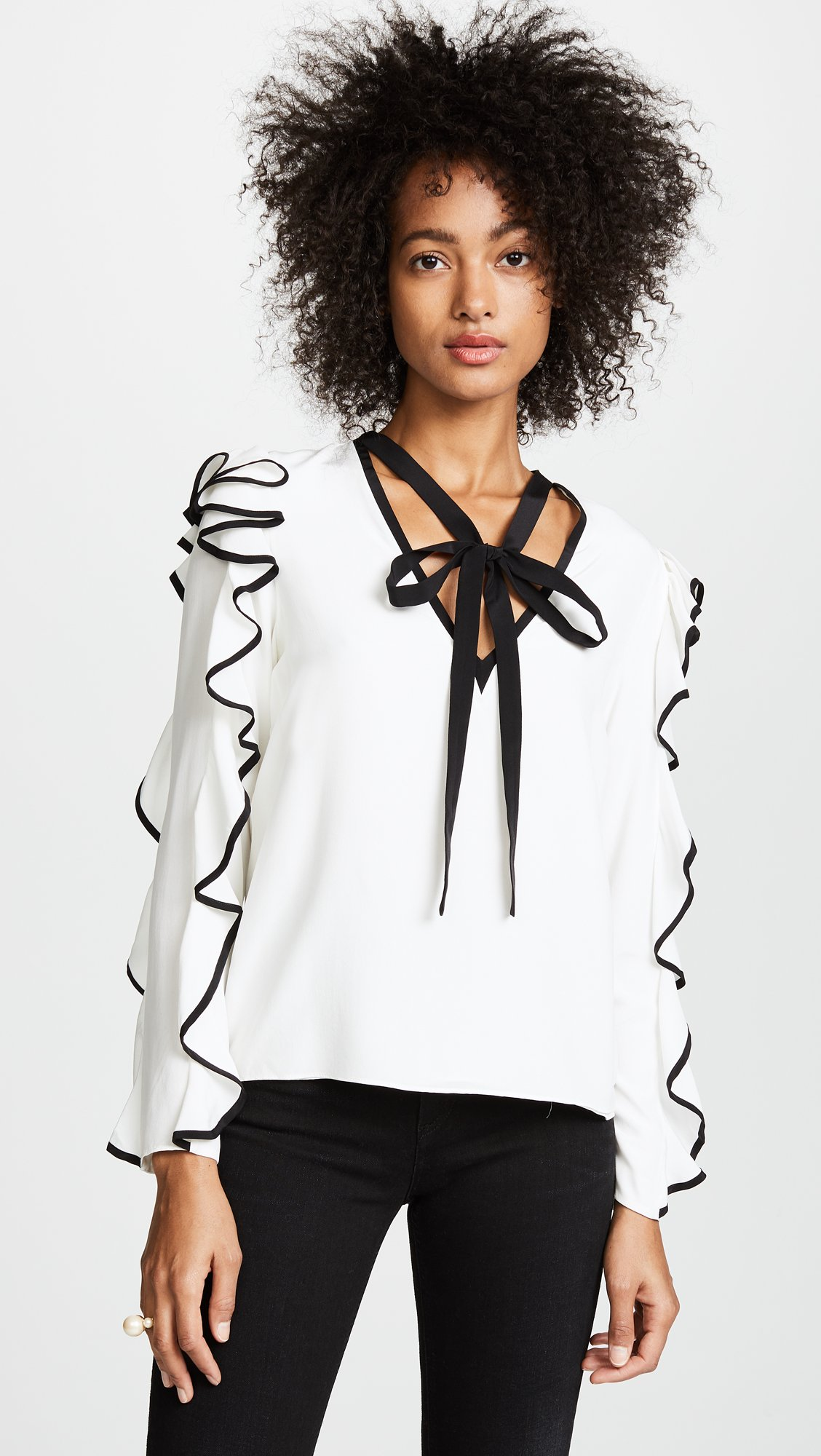 Alexis Women's Darcy Top, Off White, Medium by Alexis (Image #2)