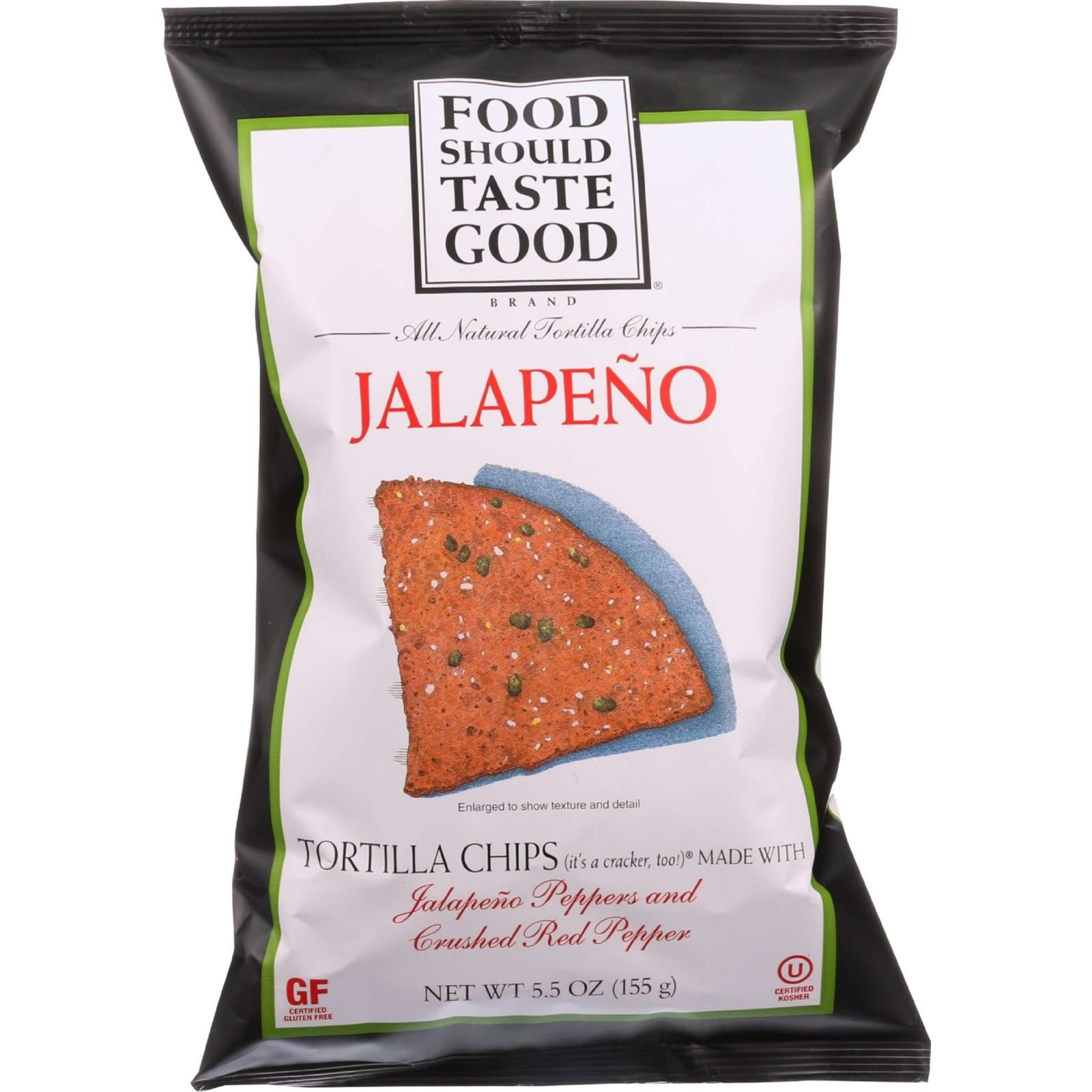 Food Should Taste Good Tortilla Chips - Jalapeno - 5.5 oz - case of 12 - - Gluten Free - - - -