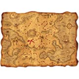 Plastic Treasure Map Party Accessory (1 count) (1/Pkg)