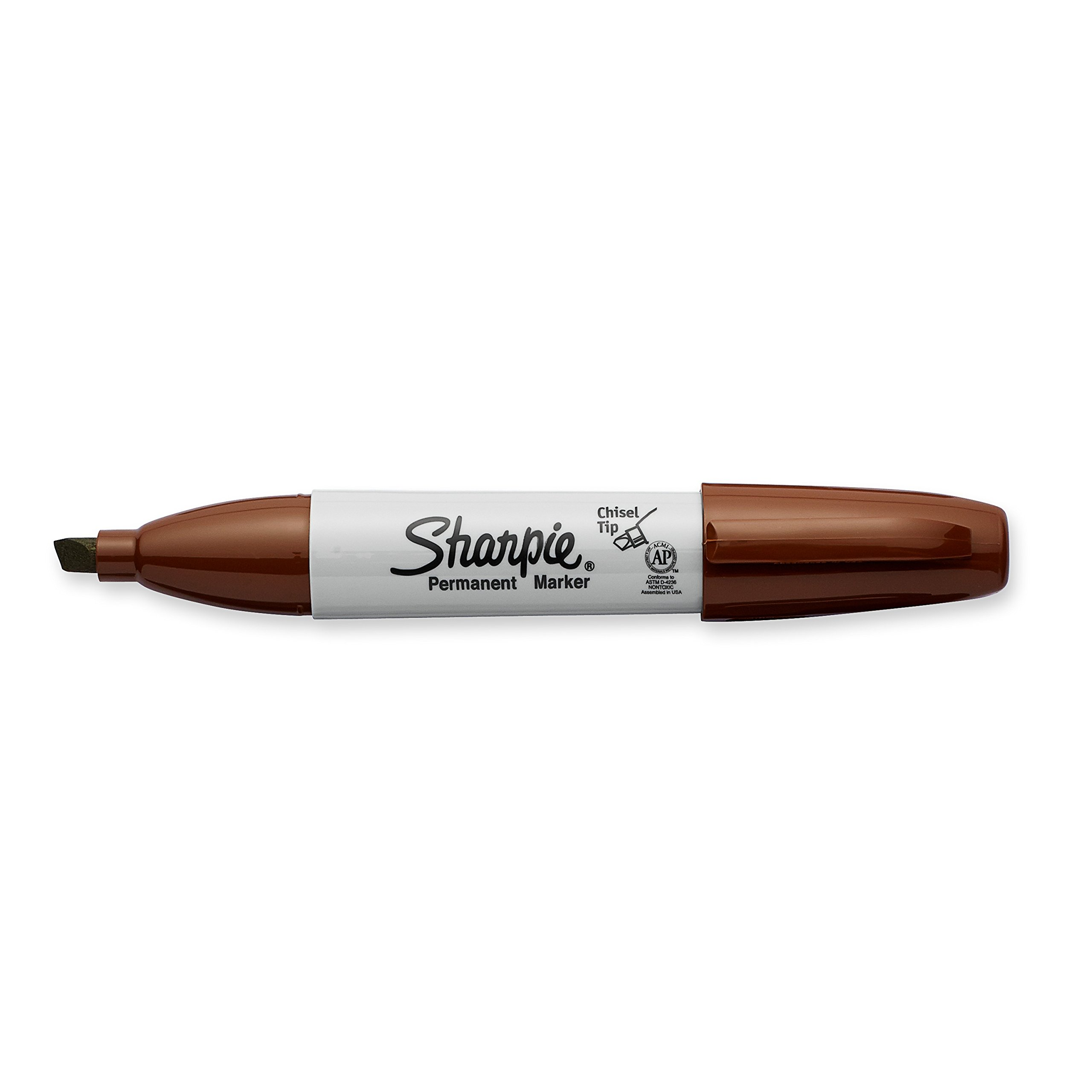 Sharpie Permanent Markers, Broad, Chisel Tip, 8-Pack, Brown (1927298)